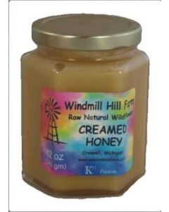 12 oz Hex Jar Creamed Honey