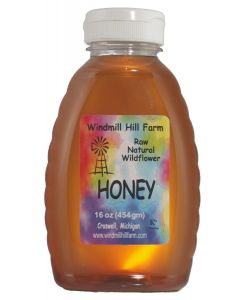 16 oz Skep of wildflower honey