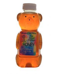 24 oz Bear of wildflower honey