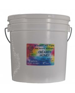 5 gallon pail of creamed honey