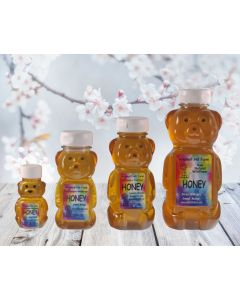 Bears, jugs, jars, and pails of the best honey in the world.
