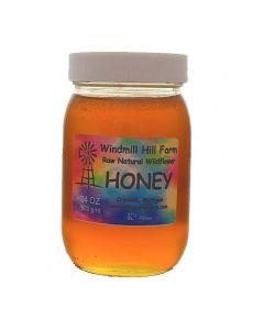 Pint PET jar of wildflower honey