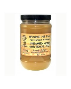 Royal jelly infused 22 oz Creamed honey (Royal Jelly Enriched Honey)