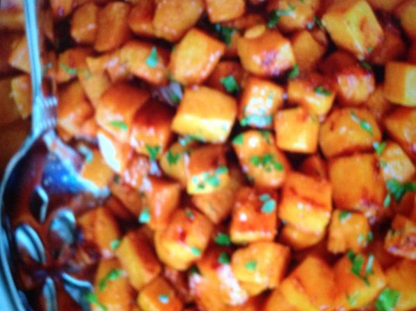 Caramelized sweet potatoes